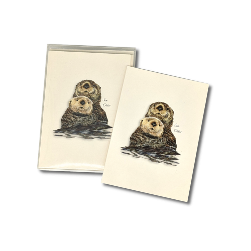 A box of Sea Otter notecards