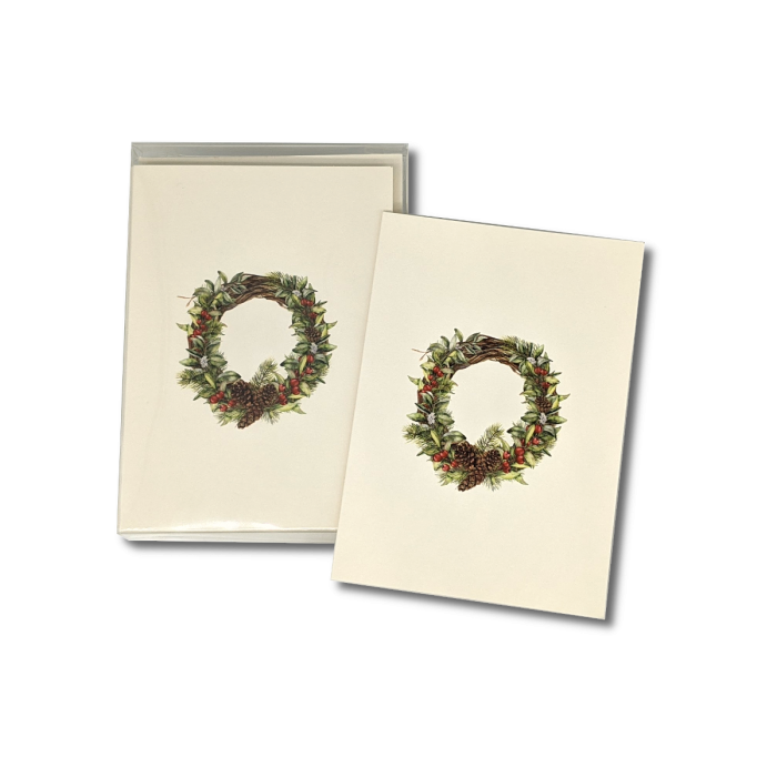 A box of Winter Wreath notecards